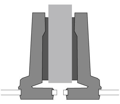Cerniera per vetro Hettich scodello diametro 26 mm, sormonto mezzo fianco